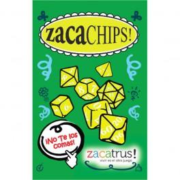 Set de 7 dados Zacachips opacos amarillo y negro