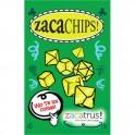 Set de 7 dados Zacachips opacos verde y blanco