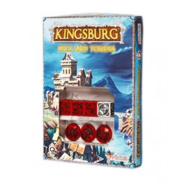 Kingsburg Red Dice and Tokens