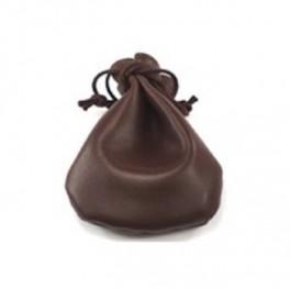 Bolsa para dados de piel marrón 90x105 mm