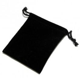 Bolsa para dados de terciopelo: color negro