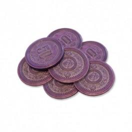 Scythe: monedas metalicas $50 (x7)