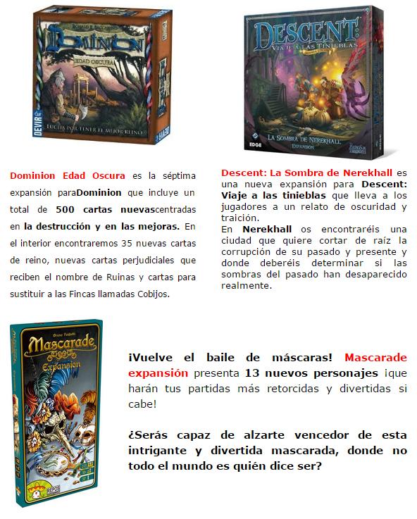 NOVEDADES OCTUBRE JUEGOS DE LA MESA REDONDA Expansiones-octubre2014-2