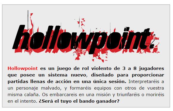 NOVEDADES Y PRE VENTAS SEPTIEMBRE 2014 - JUEGOS DE LA MESA REDONDA Hollopoint-septiembre2014