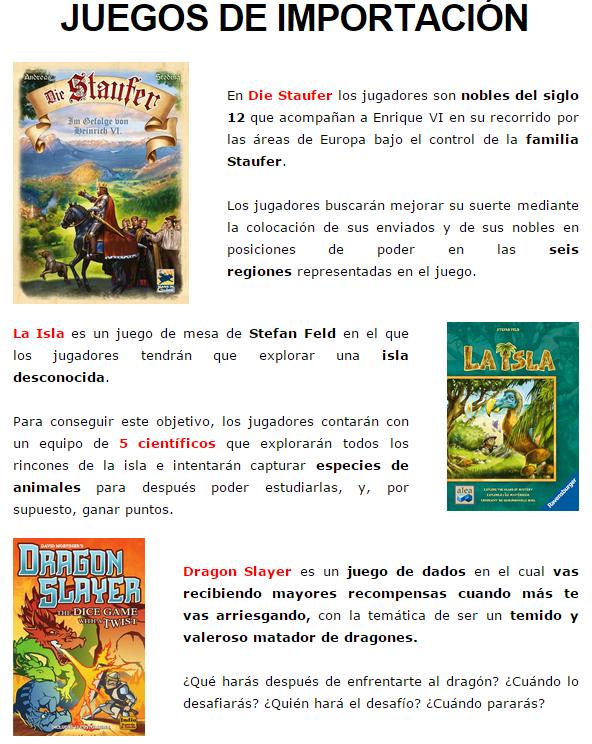 NOVEDADES Y PRE-VENTAS FEBRERO - JUEGOS DE LA MESA REDONDA Importacion-febrero2015-1