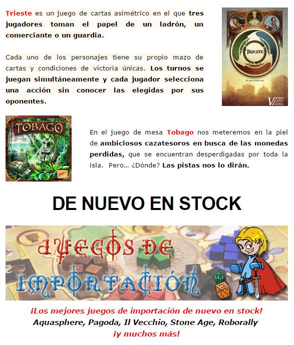 NOVEDADES Y PRE-VENTAS MARZO - JUEGOS DE LA MESA REDONDA Importacion-marzo2015-2