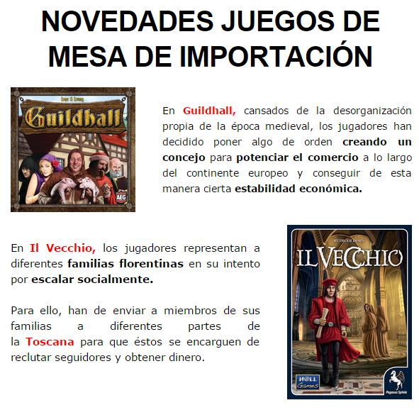 NOVEDADES OCTUBRE JUEGOS DE LA MESA REDONDA Importacion-octubre2014-1