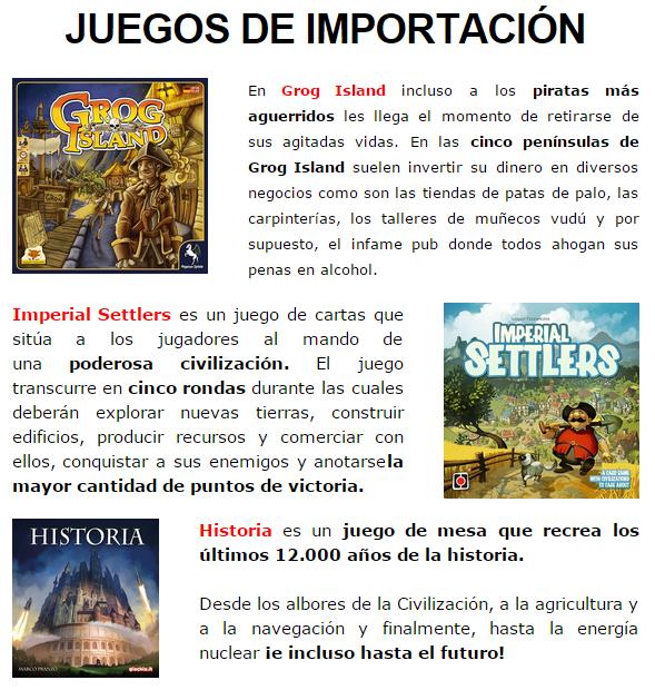 NOVEDADES DICIEMBRE - JUEGOS DE LA MESA REDONDA Importacion1-diciembre14