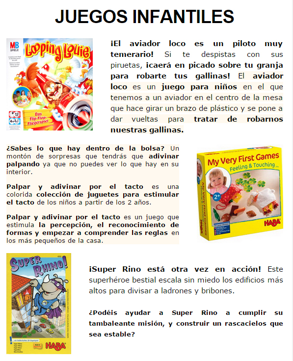NOVEDADES Y PRE-VENTAS ENERO - JUEGOS DE LA MESA REDONDA Infantiles-enero2015-1