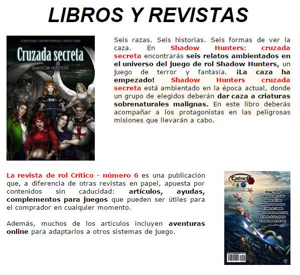 NOVEDADES Y PROMOCIONES MAYO - JUEGOS DE LA MESA REDONDA Librosyrevistas-mayo2015-1