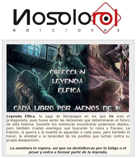 NOVEDADES Y PRE VENTAS SEPTIEMBRE 2014 - JUEGOS DE LA MESA REDONDA Nosolorol1-septiembre2014