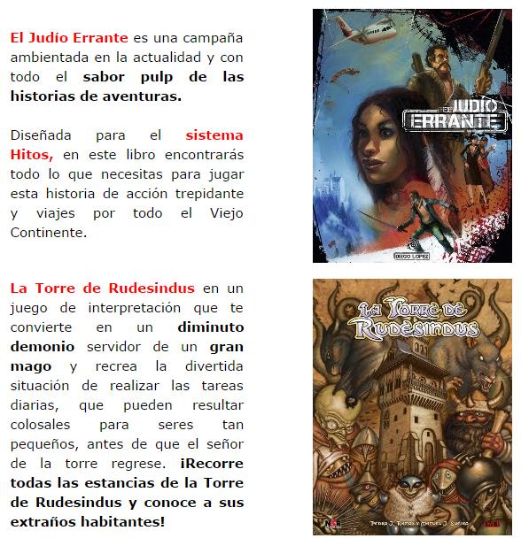 NOVEDADES Y PRE VENTAS SEPTIEMBRE 2014 - JUEGOS DE LA MESA REDONDA Nosolorol6-septiembre2014