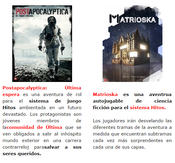 NOVEDADES Y PRE VENTAS SEPTIEMBRE 2014 - JUEGOS DE LA MESA REDONDA Nosolorol7-septiembre2014