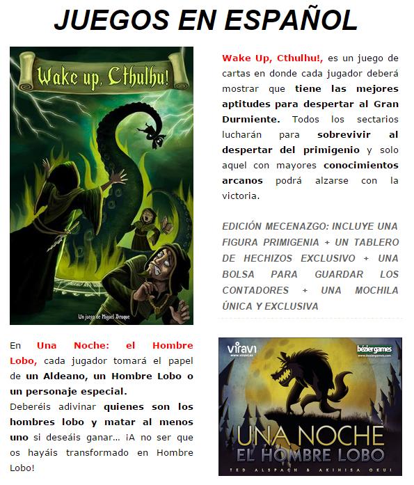 Novedades y preventas julio - JUEGOS DE LA MESA REDONDA Novedad-espanol-julio2015-2-1