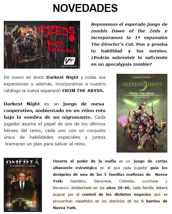 NOVEDADES Y PRE-VENTAS ENERO - JUEGOS DE LA MESA REDONDA Novedades-enero2015-1
