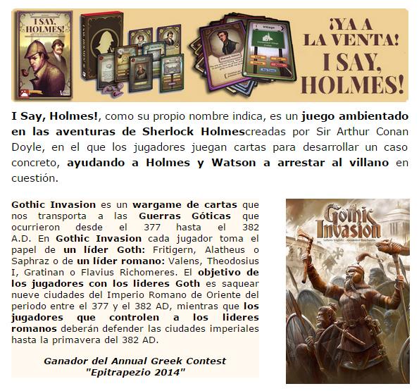 NOVEDADES Y PRE-VENTAS ENERO - JUEGOS DE LA MESA REDONDA Novedades-enero2015-2