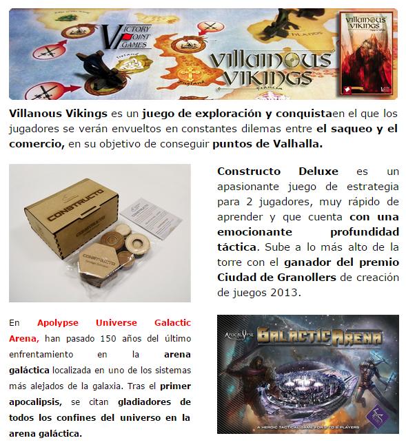 NOVEDADES Y PRE-VENTAS ENERO - JUEGOS DE LA MESA REDONDA Novedades-enero2015-3