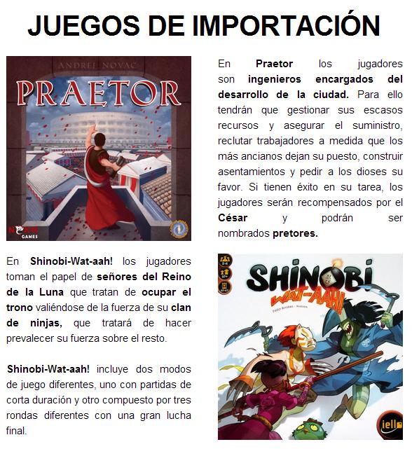 NOVEDADES Y PRE VENTAS SEPTIEMBRE 2014 - JUEGOS DE LA MESA REDONDA Novedades-importacion1-2014