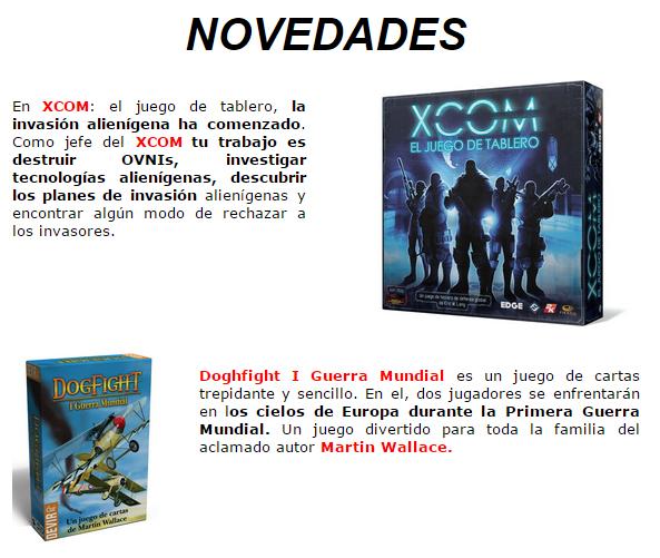 Novedades y preventas julio - JUEGOS DE LA MESA REDONDA Novedades-julio2015-1
