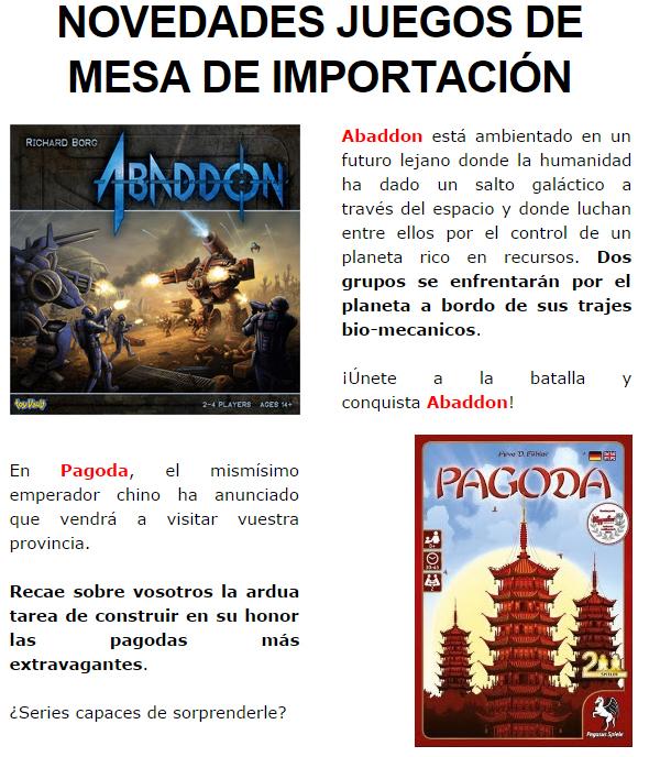 NOVEDADES Y PRE VENTAS SEPTIEMBRE 2014 - JUEGOS DE LA MESA REDONDA Novedades-septiembre-2014-jimportacion1
