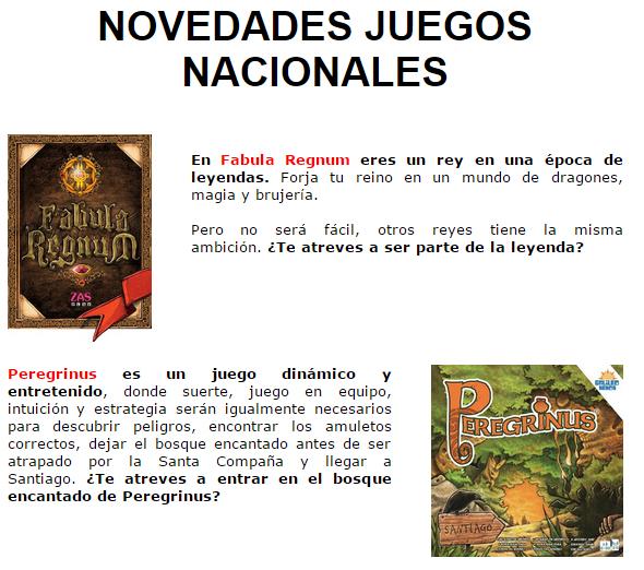 NOVEDADES Y PRE-VENTAS ABRIL - JUEGOS DE LA MESA REDONDA Novedadesmesa-abril2015-1