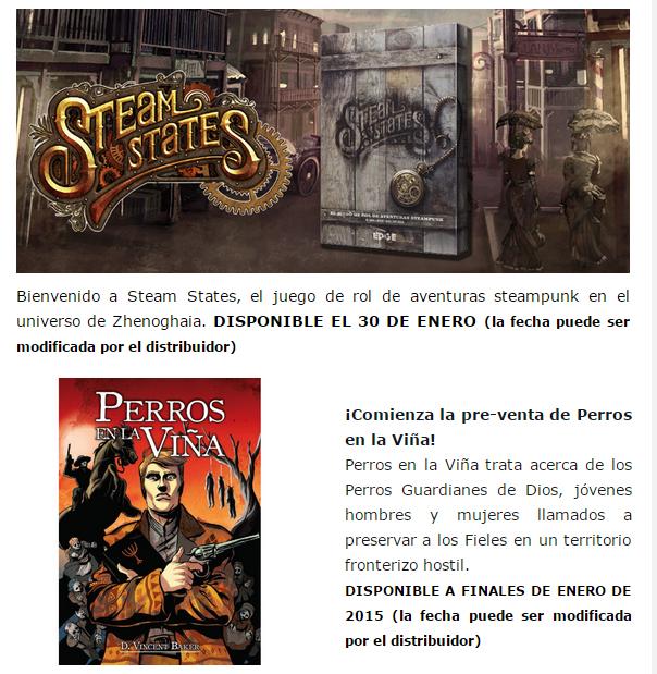 NOVEDADES Y PRE-VENTAS ENERO - JUEGOS DE LA MESA REDONDA Preventas-enero2015-2