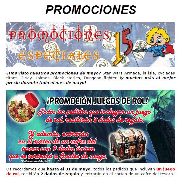 NOVEDADES Y PROMOCIONES MAYO - JUEGOS DE LA MESA REDONDA Promociones-mayo2015-1