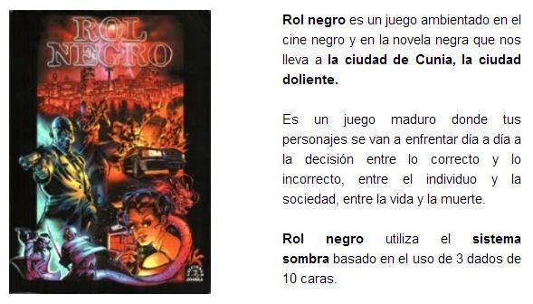 NOVEDADES AGOSTO 2014 - JUEGOS DE LA MESA REDONDA Rol-negro-agosto-2014