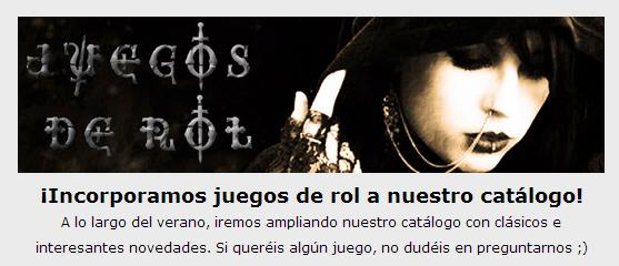 NOVEDADES JULIO 2014 - JUEGOS DE LA MESA REDONDA Rol