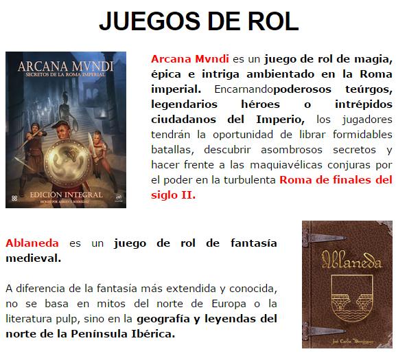 NOVEDADES DICIEMBRE - JUEGOS DE LA MESA REDONDA Rol2-diciembre2014