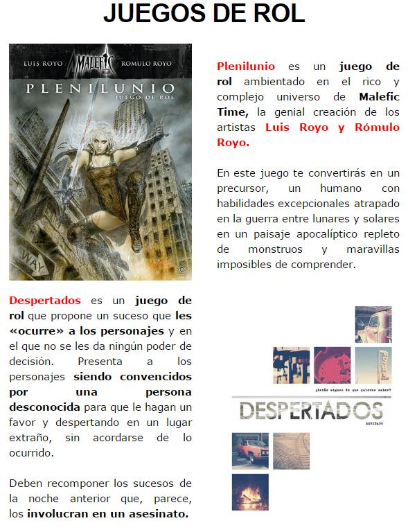 NOVEDADES DICIEMBRE - JUEGOS DE LA MESA REDONDA Rol4-diciembre2014