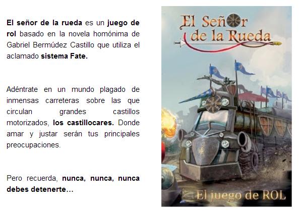 NOVEDADES AGOSTO 2014 - JUEGOS DE LA MESA REDONDA Senor-rueda-agosto2014