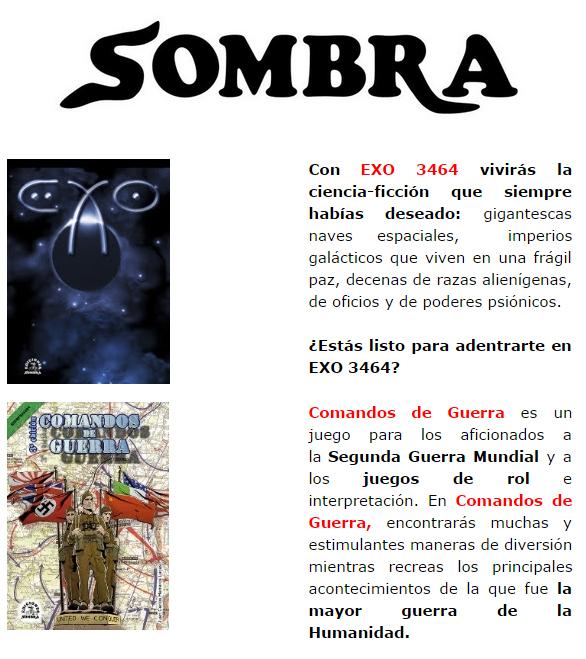 NOVEDADES Y PRE VENTAS SEPTIEMBRE 2014 - JUEGOS DE LA MESA REDONDA Sombra1-septiembre2014