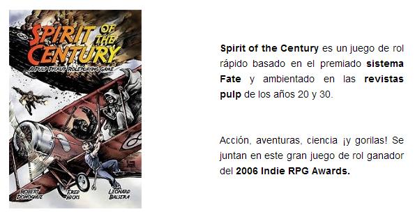 NOVEDADES AGOSTO 2014 - JUEGOS DE LA MESA REDONDA Spirit-of-the-century-agosto-2014