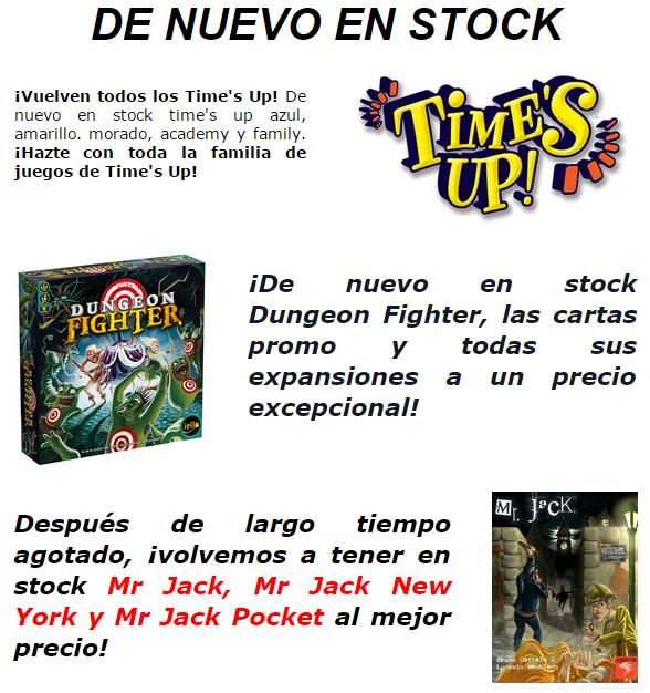Novedades y preventas julio - JUEGOS DE LA MESA REDONDA Stock-julio2015-1