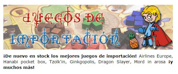 Novedades y preventas julio - JUEGOS DE LA MESA REDONDA Stock-julio2015-2