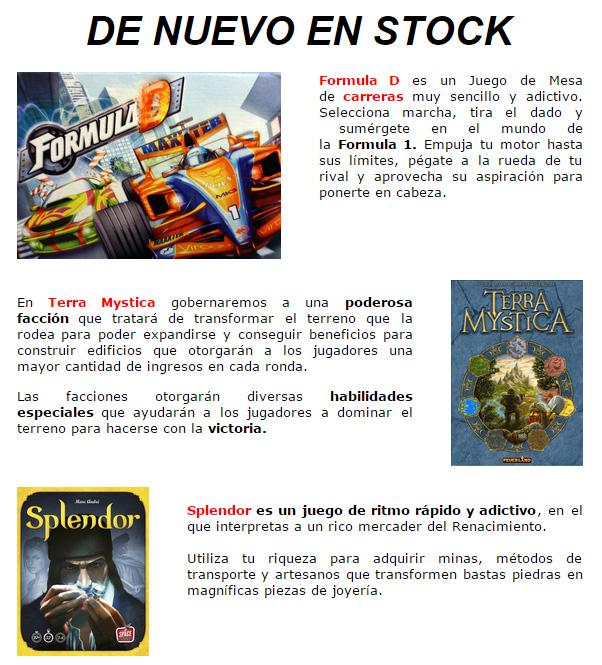 NOVEDADES Y PROMOCIONES MAYO - JUEGOS DE LA MESA REDONDA Stock-mayo2015-1
