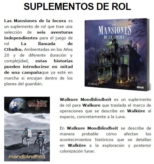 NOVEDADES Y PRE-VENTAS ENERO - JUEGOS DE LA MESA REDONDA Suplementos-rol-enero2015-1