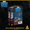 Marvel Crisis Protocol Bullseye and Daredevil - expansion juego de mesa