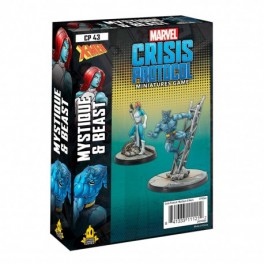 Marvel Crisis Protocol Beast and Mystique - expansión juego de mesa
