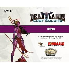 Savage Worlds: Deadlands. Colonia Perdida: Encarte - suplemento de rol