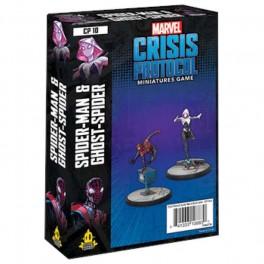 Marvel Crisis Protocol Ghost Spider and Spiderman - expansión juego de mesa