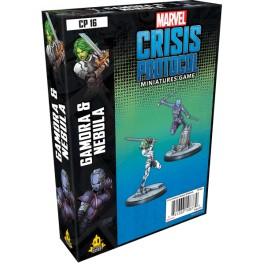 Marvel Crisis Protocol Gamora and Nebula - expansión juego de mesa