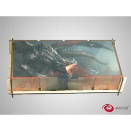 Caja para guardar Componentes Knight Fighting Dragon (Token Box) - Talla L