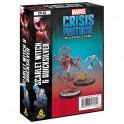 Marvel Crisis Protocol Scarlet Witch and Quicksilver - expansión juego de mesa
