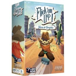Flick em Up! Tierra de Forajidos juego de mesa