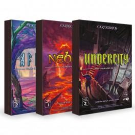 Cartografos. Pack de Mapas: Nebblis, Affril y Undercity - expansión juego de mesa