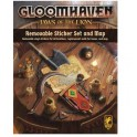 Gloomhaven: removable sticker set and map: Jaws of the Lion - expansión juego de mesa