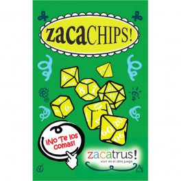 Set de 7 dados Zacachips opacos naranja y blanco