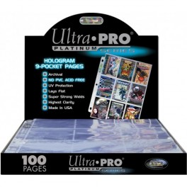 100 Hojas de 9 bolsillos Album Platinum Ultra Pro